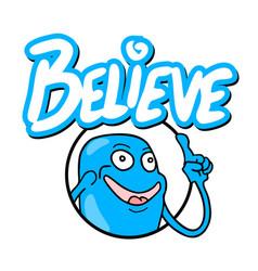 Believe icon message vector