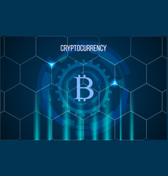 bitcoin digital money crypto currency background vector image