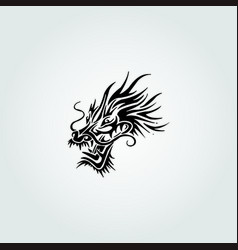Black dragon head vector