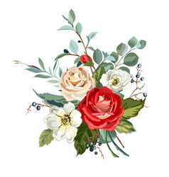 bouquet with roses vector image