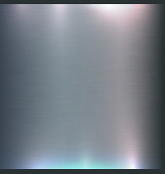Brushed aluminum metal steel colorful light vector