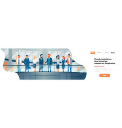business people handshaking modern office interior vector image