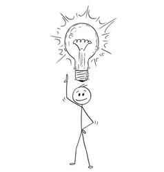 Cartoon of man or businessman with idea vector