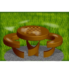Chess board park vector
