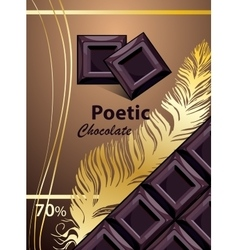 Chocolate template Brown chocolate vector
