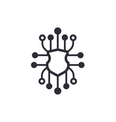 Cyber security icon on white vector