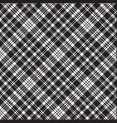 diagonal black white plaid sreamless pattern vector image
