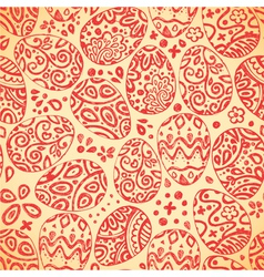 Eastern sketch eggs seamless pattern vector