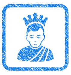 Emperor framed stamp vector