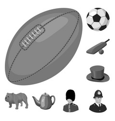 England country monochrome icons in set collection vector