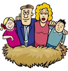 Family nest cartoon vector