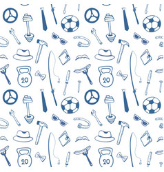 Fathers day mens accessories instruments sports vector