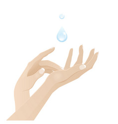 Female hands care and hygiene vector