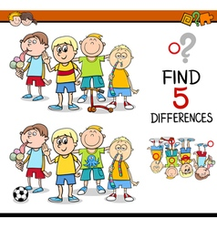 Find the differences activity vector