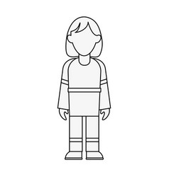 Firefighter woman avatar full body icon image vector