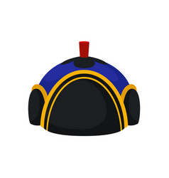 Flat of national blue-black mongolian hat vector