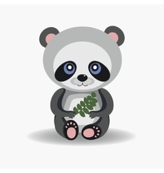 Funny forest panda vector image