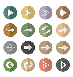 group arrow in circle vector image