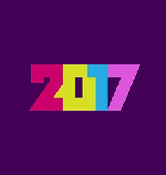 Happy new year 2017 greeting card design vector