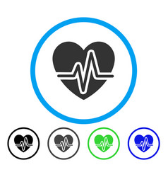 heart diagram rounded icon vector image