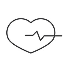 heartbeat medical cardiology diagnosis linear vector image