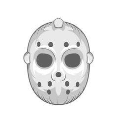 Hockey mask icon black monochrome style vector image