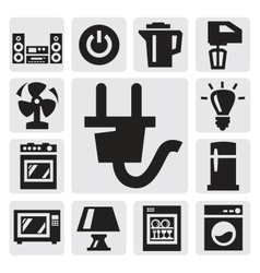 Home appliances icon vector image