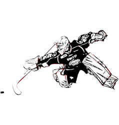 ice hockey goalkeeper vector image