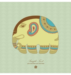 Indian pattern elephant vector image