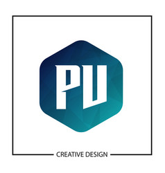 Initial pv letter logo template design vector