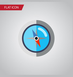 isolated orientation flat icon geography vector image