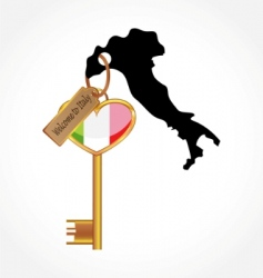 key to Italy vector image
