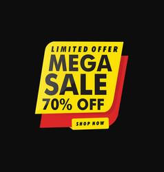 Limited offer mega sale banner vector
