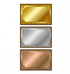 metal plaques vector image vector image