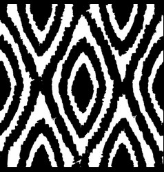 monochrome rhombus seamless pattern vector image