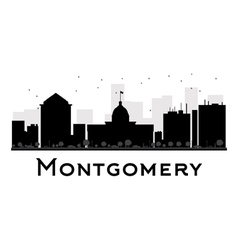 Montgomery silhouette vector image