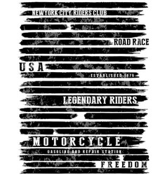 motorcycle slogans typography tee graphic vector image