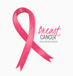 national breast cancer awareness month pink ribbon vector image