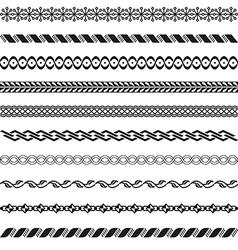 Old border designs set vector image