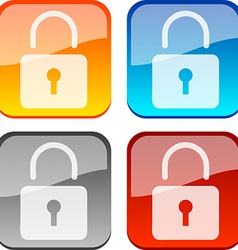 Padlock buttons vector image