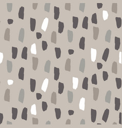 Paint splash brushstrokes seamless gray vector