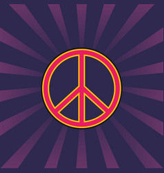 peace sign vintage style vector image