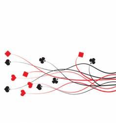 poker bridge vector image