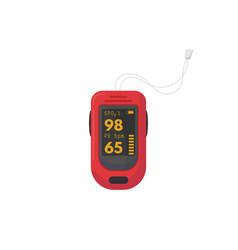 pulse oximeter device vector image