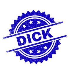 Scratched textured dick stamp seal vector