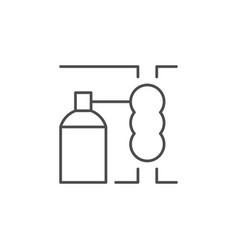 Seam insulation line outline icon vector
