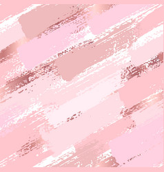 seamless pattern with pastel pink brush strokes vector image