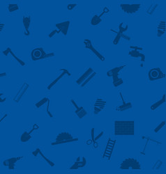 Seamless pattern with repair working tools icons vector