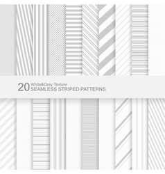 Seamless striped patterns vector image