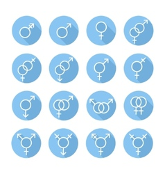 Sexual orientation gender web iconssymbolsign in vector